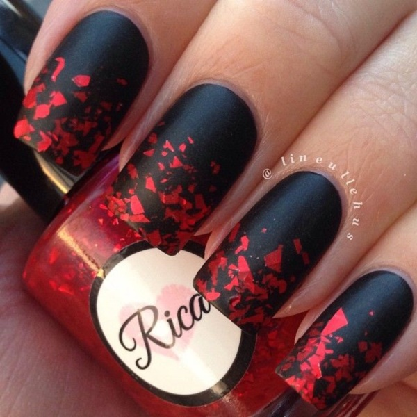 Black Nail Art Designs and Ideas (2) - Best 101 Sophisticated Black Nail Art Designs And Ideas