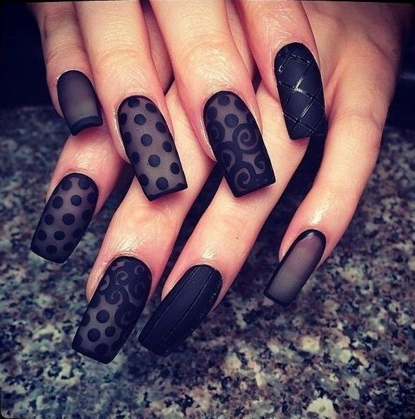 Best 101 sophisticated black nail art designs and ideas black nail art designs and ideas 21 prinsesfo Image collections