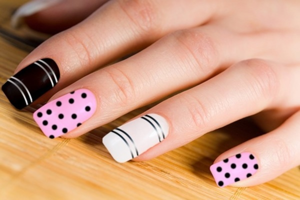 Black Nail Art Designs and Ideas (25) - Best 101 Sophisticated Black Nail Art Designs And Ideas