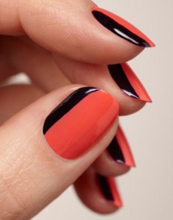 Black Nail Art Designs and Ideas (3) - Best 101 Sophisticated Black Nail Art Designs And Ideas
