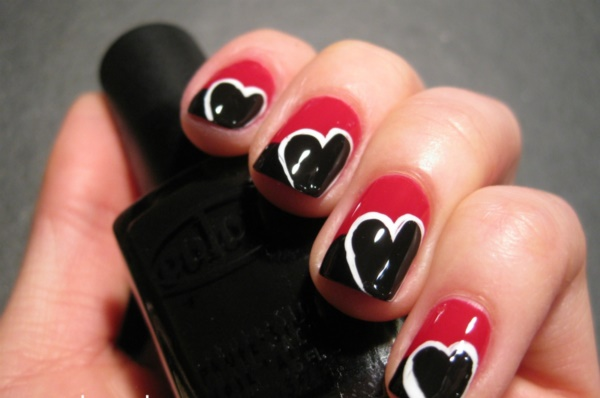 Black Nail Art Designs and Ideas (36) - Best 101 Sophisticated Black Nail Art Designs And Ideas