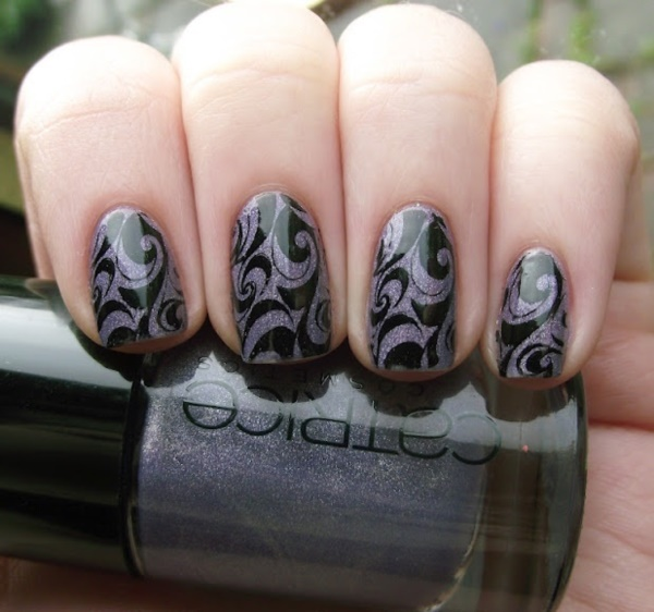 Black Nail Art Designs and Ideas (39) - Best 101 Sophisticated Black Nail Art Designs And Ideas