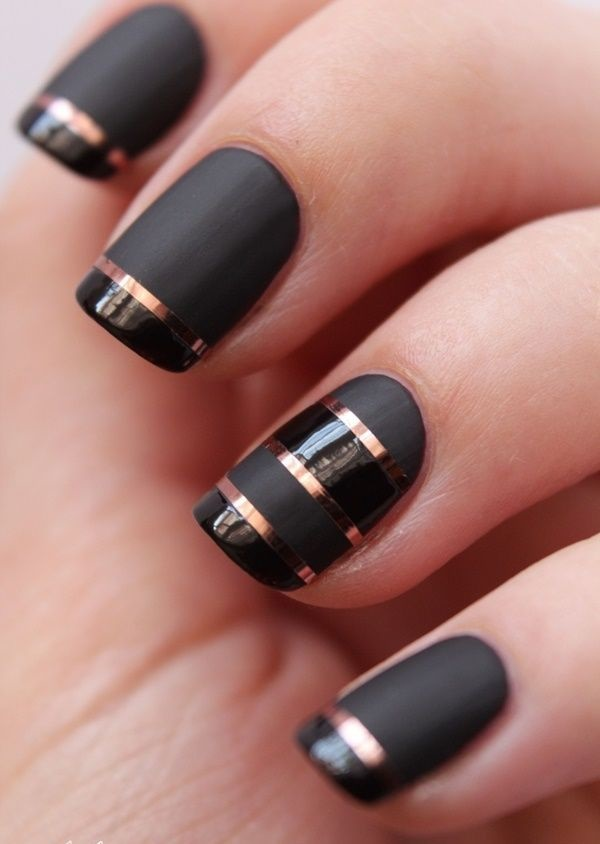 Black Nail Art Designs and Ideas (5) - Best 101 Sophisticated Black Nail Art Designs And Ideas