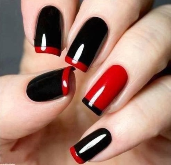 Black Nail Art Designs and Ideas (59) - Best 101 Sophisticated Black Nail Art Designs And Ideas