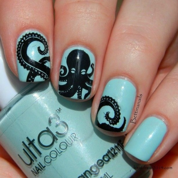 Black Nail Art Designs and Ideas (6) - Best 101 Sophisticated Black Nail Art Designs And Ideas
