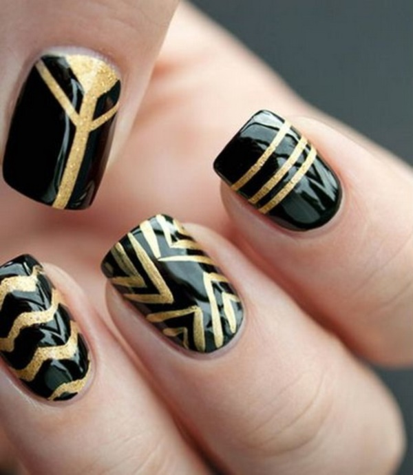 Black Nail Art Designs and Ideas (9) - Best 101 Sophisticated Black Nail Art Designs And Ideas