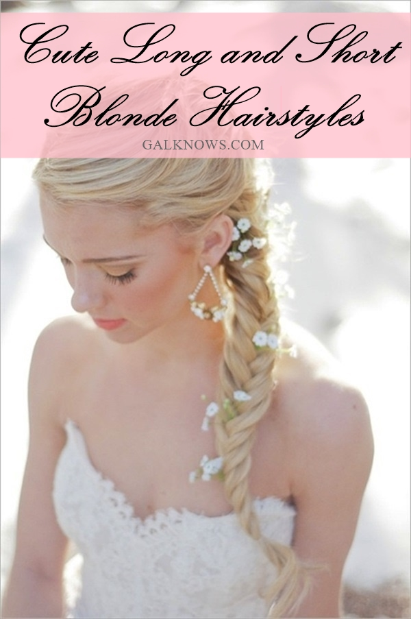 Cute Long and Short Blonde Hairstyles (1.1)