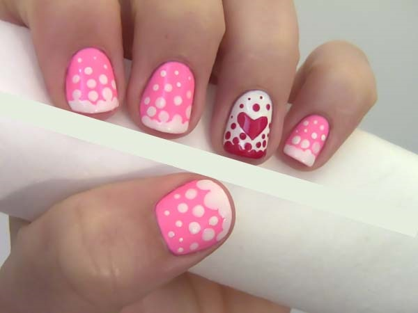 Cute Pink And White Nails Designs 1