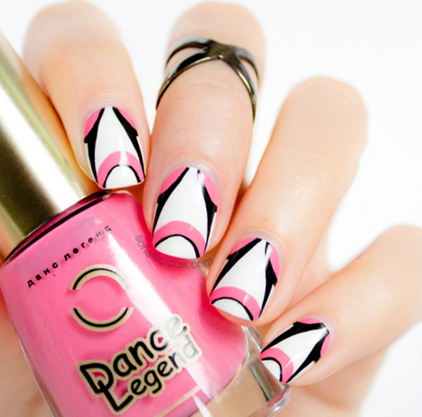 Cute Pink and White Nails Designs (1)