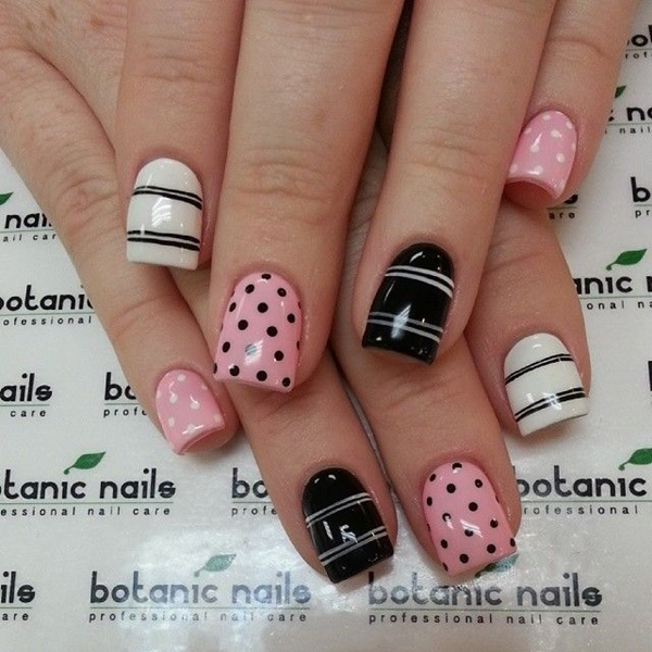 Cute Pink and White Nails Designs (10)