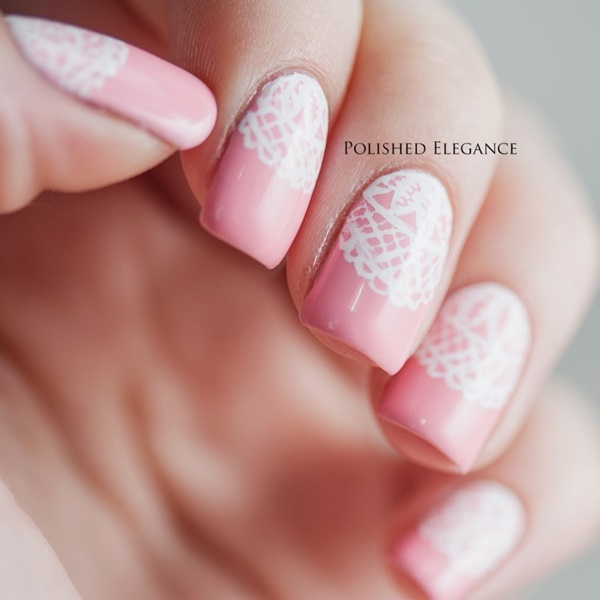 Cute Pink and White Nails Designs (11)
