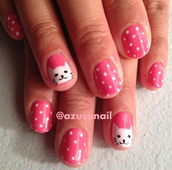 Cute Pink and White Nails Designs (12)
