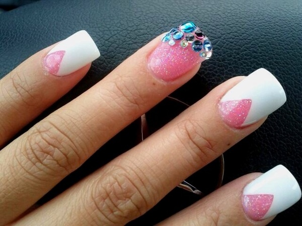 Cute Pink and White Nails Designs (14)