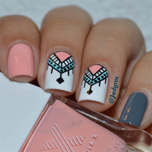Cute Pink and White Nails Designs (15)