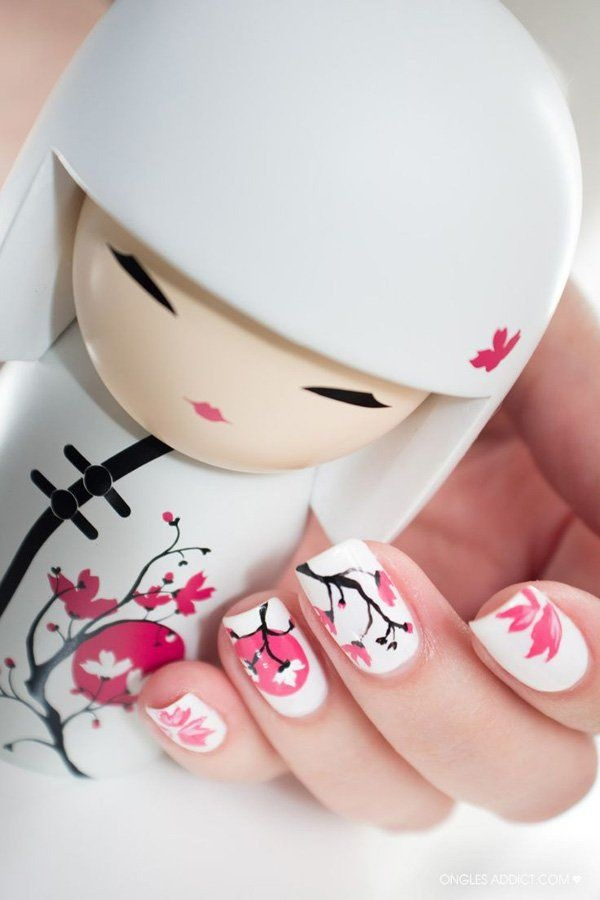 Cute Pink and White Nails Designs (16)