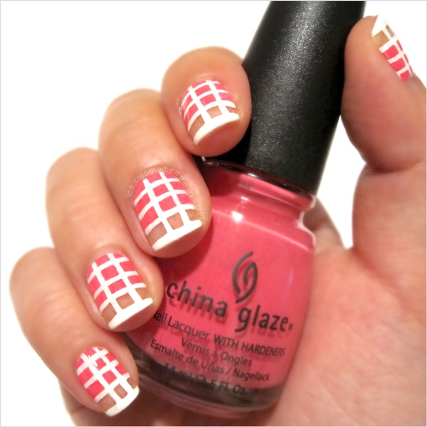 Cute Pink and White Nails Designs (17)