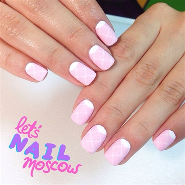 Cute Pink and White Nails Designs (18) - 101 Cute Pink And White Nails Designs Worth Stealing
