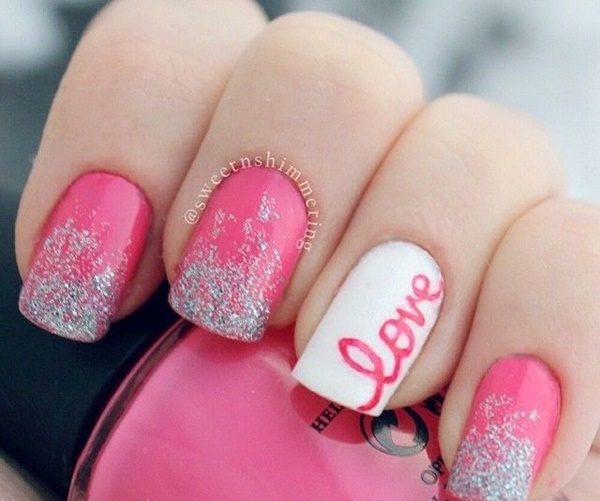 Cute Pink and White Nails Designs (2)