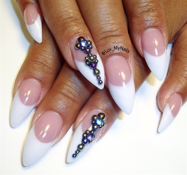 Cute Pink and White Nails Designs (21)