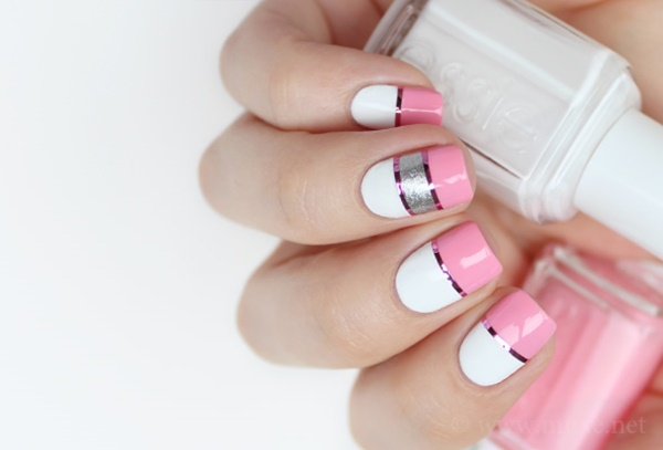 Cute Pink and White Nails Designs (22)