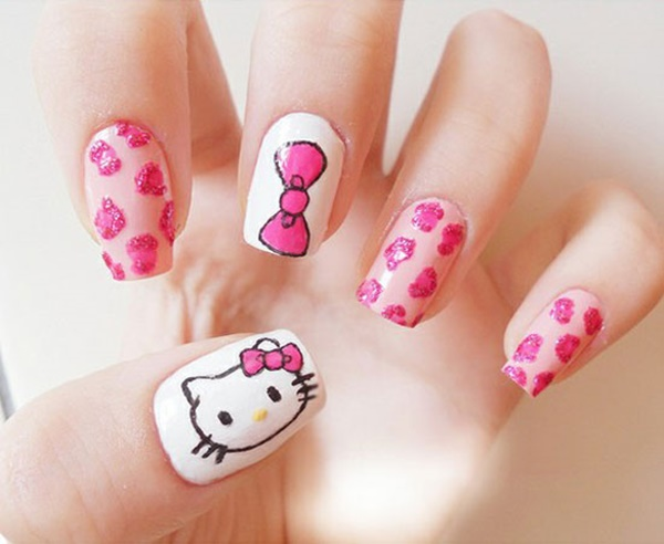 Cute Pink and White Nails Designs (24)