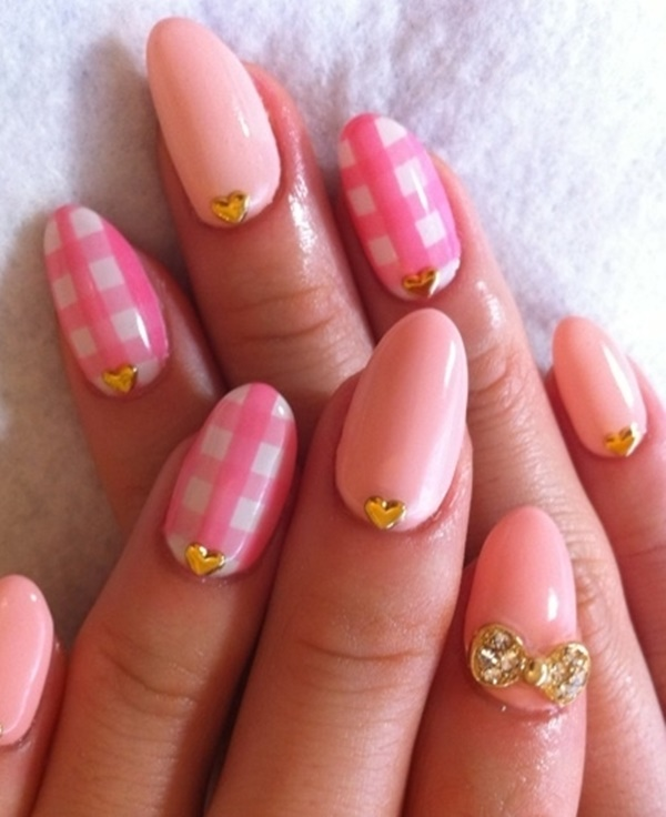 Cute Pink and White Nails Designs (25)