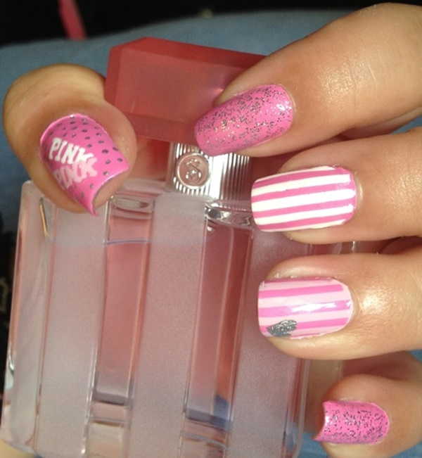 Cute Pink and White Nails Designs (26)