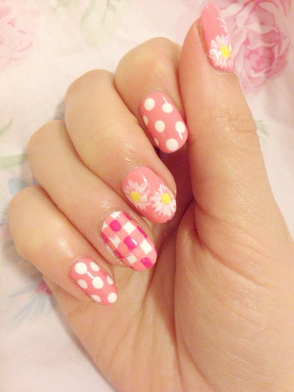 Cute Pink and White Nails Designs (31)