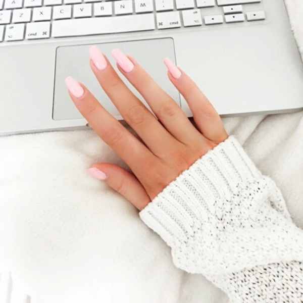 Cute Pink and White Nails Designs (32)