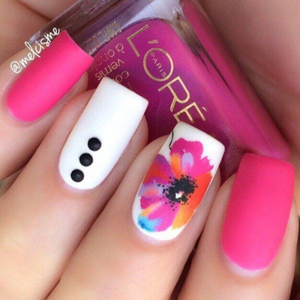 Cute Pink and White Nails Designs (33)