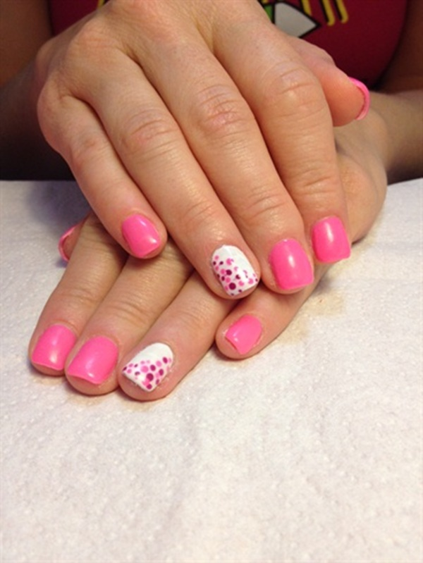 Cute Pink and White Nails Designs (35)