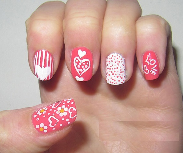Cute Pink and White Nails Designs (36)