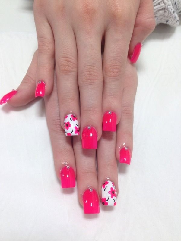 101 cute pink and white nails designs worth stealing cute pink and white nails designs 5 prinsesfo Choice Image