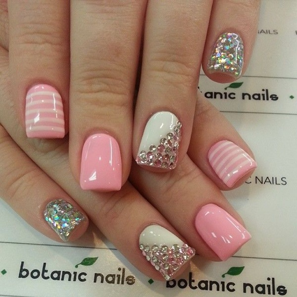 Cute Pink and White Nails Designs (6)