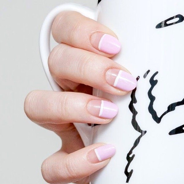 Cute Pink and White Nails Designs (7)