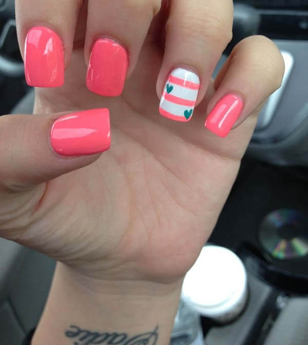 Cute Pink and White Nails Designs (8)