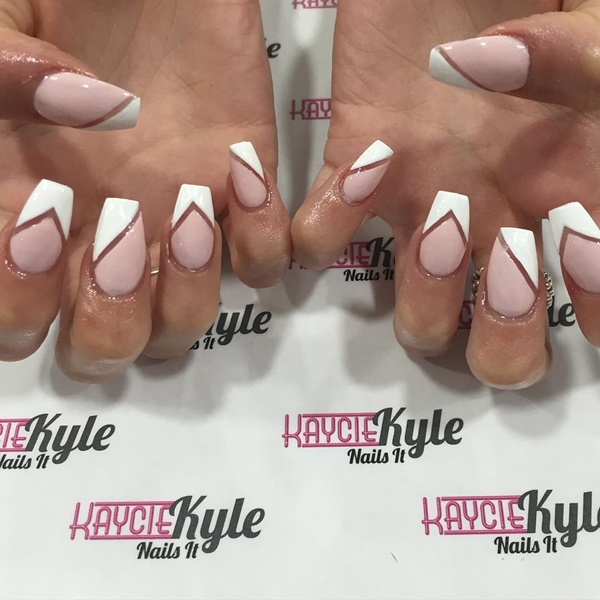 Cute Pink and White Nails Designs (9) - 101 Cute Pink And White Nails Designs Worth Stealing