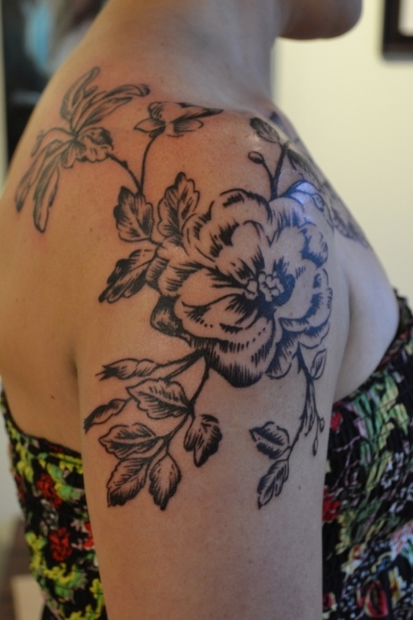 Flower Tattoo Designs for Women (26)