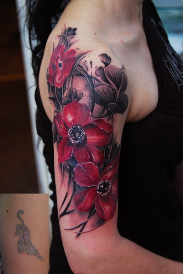Flower Tattoo Designs for Women (37)