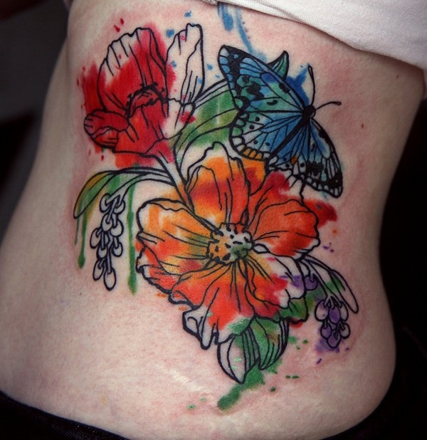 Flower Tattoo Designs for Women (38)