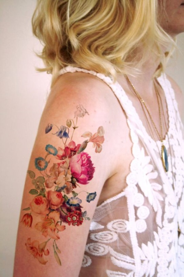 Flower Tattoo Designs for Women (41)