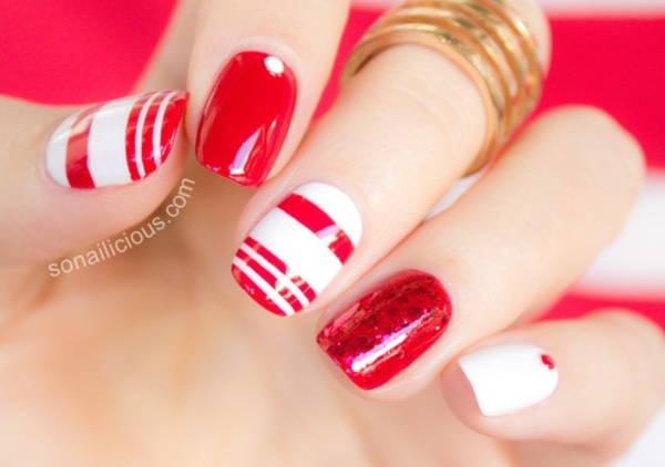 Red Nail Art Designs (10)