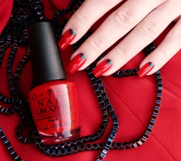 Red Nail Art Designs (12) - 101 Splendid Red Nail Art Designs To Say