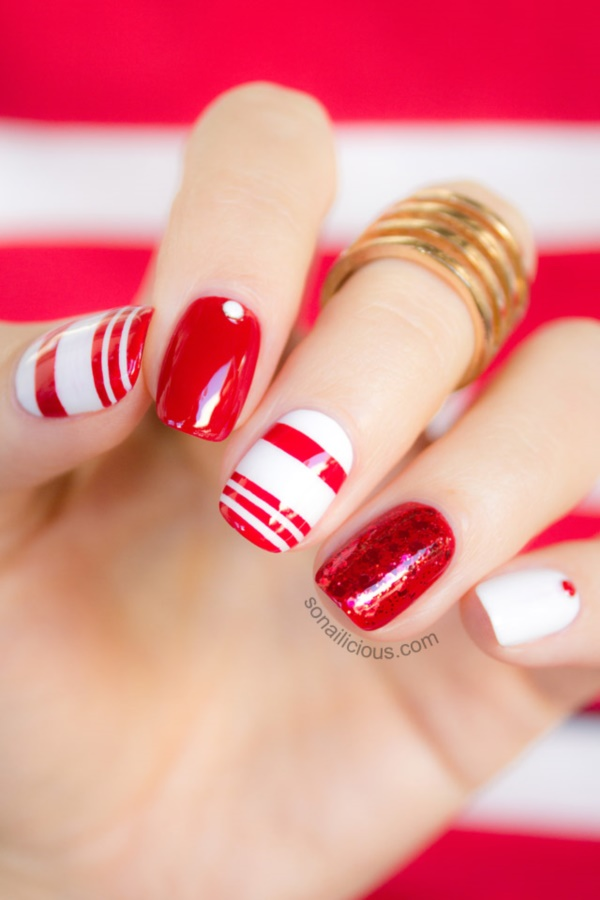 Red Nail Art Designs (14)
