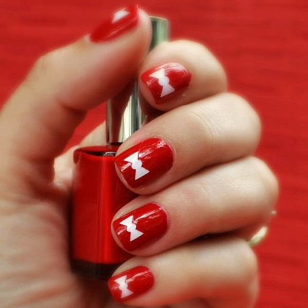 101 Splendid Red Nail Art Designs to say \