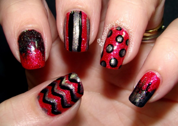Red Nail Art Designs (18)