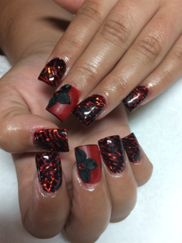 Red Nail Art Designs (19)