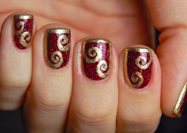 Red Nail Art Designs (2)