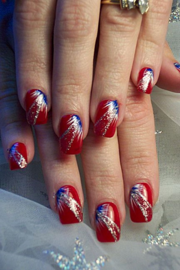 Red Nail Art Designs (2) - 101 Splendid Red Nail Art Designs To Say
