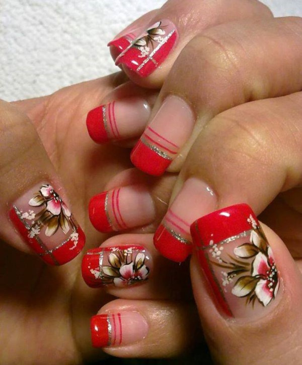 Red Nail Art Designs (20)